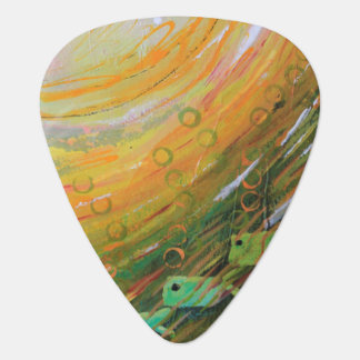 Fish in a Green Sea Guitar Pick