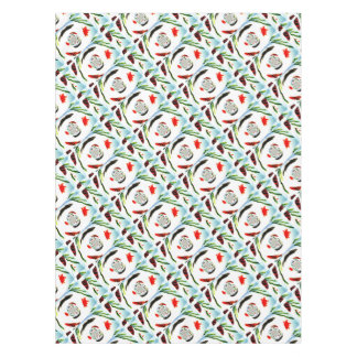 Fish in a Spin Fun Abstract Art Tablecloth