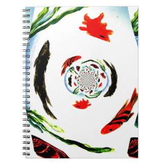 """""""Fish in a Spin"""" Fun Abstract Underwater Art Notebooks"""
