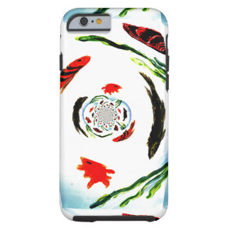 """""""Fish in a Spin"""" Fun Abstract Underwater Art Tough iPhone 6 Case"""