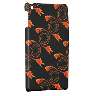 Fish in a Swirl abstract art iPad Mini Cases