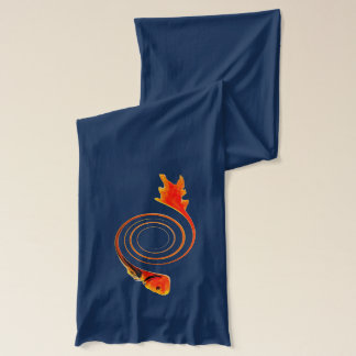Fish in a Swirl abstract art Scarf