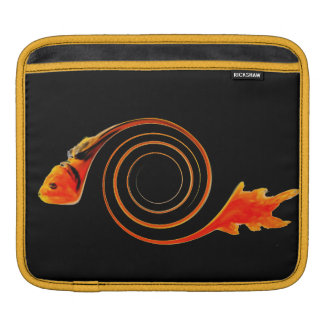 Fish in a Swirl abstract art Sleeves For iPads