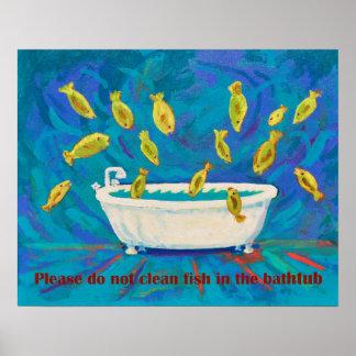 Fish in Bathtub  Poster