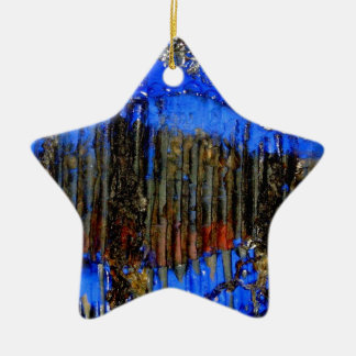 fish in bubble wrap ceramic star decoration