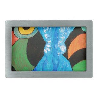 fish in conversation rectangular belt buckle