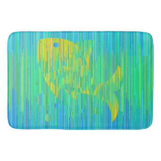 Fish in sea colors. Geometric style mat