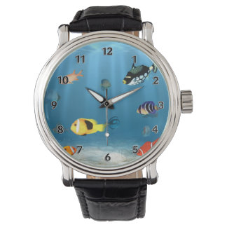 Fish In The Ocean Wristwatches
