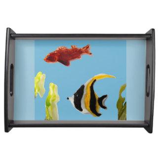 Fish in the Sea Aquatic Art Serving Tray