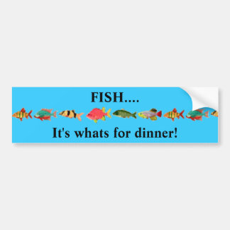 FISH....It's whats for dinner! Car Bumper Sticker