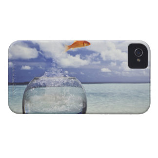 Fish jumping from fish tank iPhone 4 Case-Mate cases