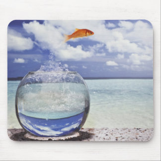 Fish jumping from fish tank mouse pad