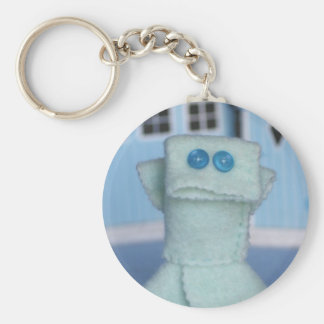 Fish, key supporter, children basic round button key ring