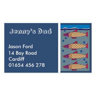 Fish kids/parents calling/profile card business card