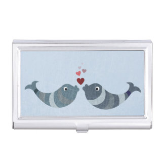 Fish Kissing Business Card Holder