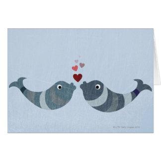 Fish Kissing Card
