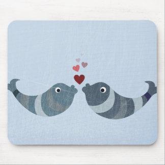 Fish Kissing Mouse Pad