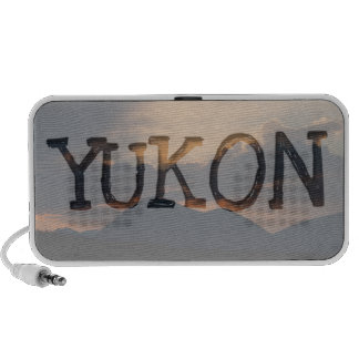 Fish Lake Sunset; Yukon Territory Souvenir Portable Speaker