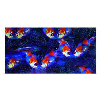Fish Love Customized Photo Card