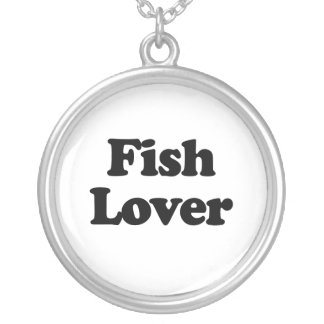 Fish Lover Round Pendant Necklace