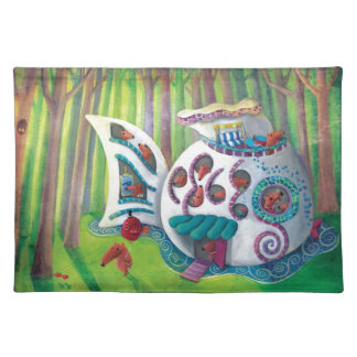 Fish Magical  Mansion in the Forest Placemat
