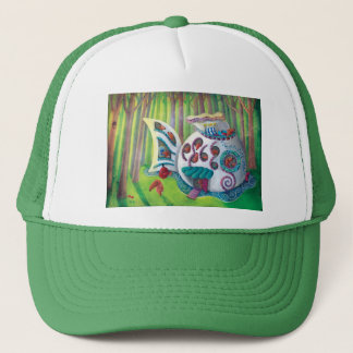 Fish Magical  Mansion in the Forest Trucker Hat
