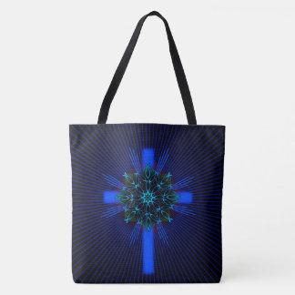 Fish Mandala and Cross Tote Bag