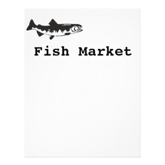 fish market 21.5 cm x 28 cm flyer