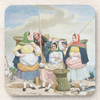Fish Market by the Sea, c.1860 (oil on canvas) Coaster