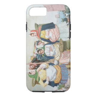 Fish Market by the Sea, c.1860 (oil on canvas) iPhone 8/7 Case