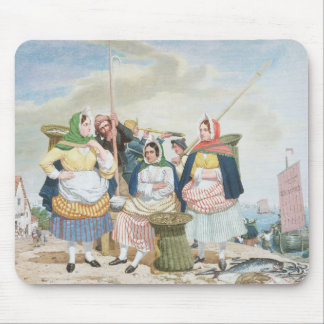 Fish Market by the Sea, c.1860 (oil on canvas) Mouse Mat