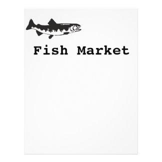 fish market flyer design