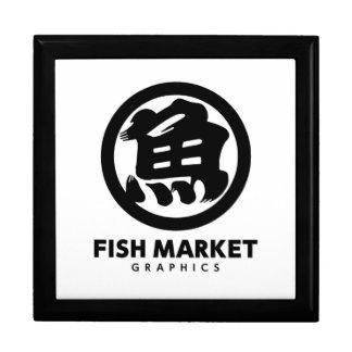 FISH MARKET GRAPHICS LOGO LARGE SQUARE GIFT BOX