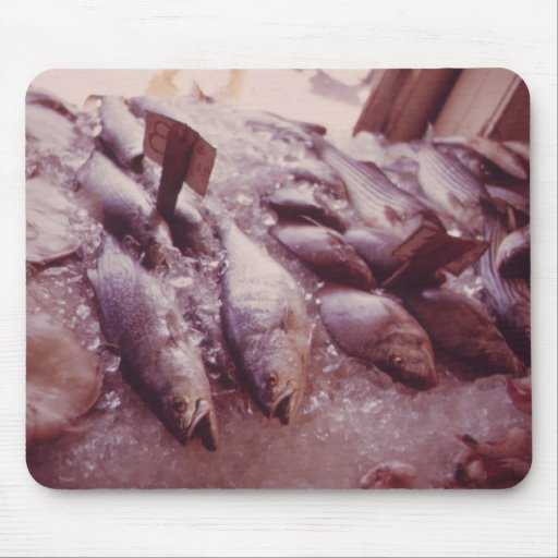 Fish Market Mouse Pads