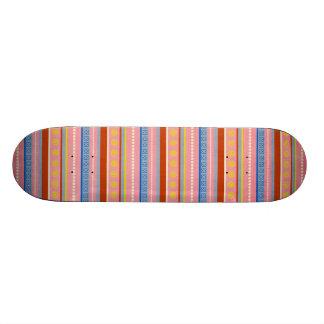 fish-market-paper-3 COLORFUL STRIPES PURPLES BLUES Skateboard Decks