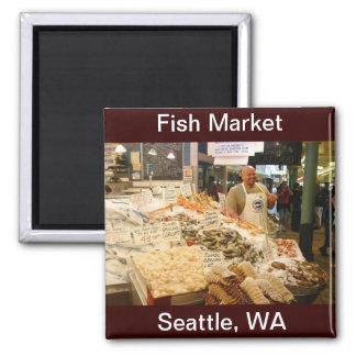 Fish Market Seattle WA Refrigerator Magnets