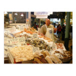 Fish Market Seattle WA Postcard