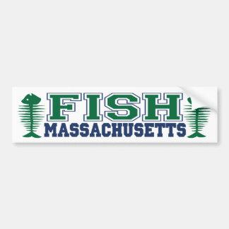 Fish Massachusetts Bumper Sticker