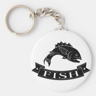 Fish menu label key chain