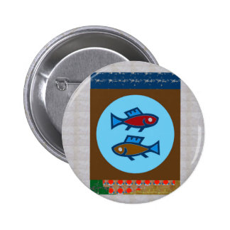 FISH MERMAID FISHING FISHERMAN unique return gifts 6 Cm Round Badge