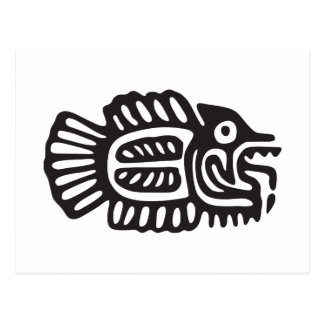 Fish, Mexican hieroglyph(Maya) Postcard