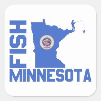 Fish Minnesota Square Sticker