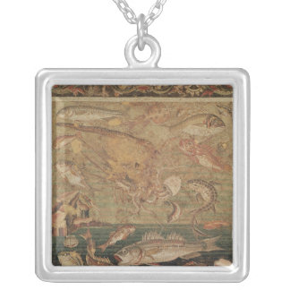 Fish, Molluscs and Crustacea Silver Plated Necklace