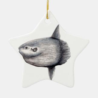Fish moon ceramic star decoration