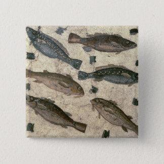 Fish (mosaic) 15 cm square badge