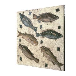 Fish (mosaic) canvas print