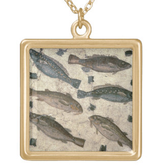 Fish (mosaic) gold plated necklace