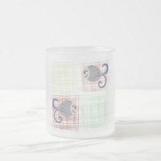 Fish Frosted Glass Mug