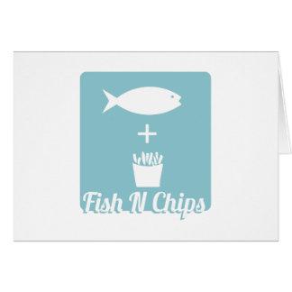 Fish N Chips Greeting Card
