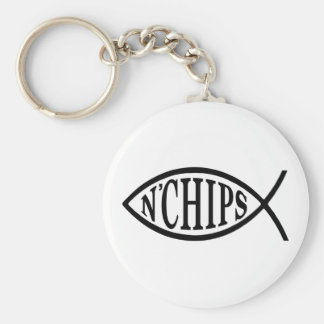 Fish N' Chips Fish Key Ring